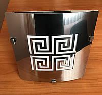 Вентилятор-светильник вытяжной бытовой Ø100 мм дизайн VENUCCI GOLD STEEL TOUCH LED Ø100 мм