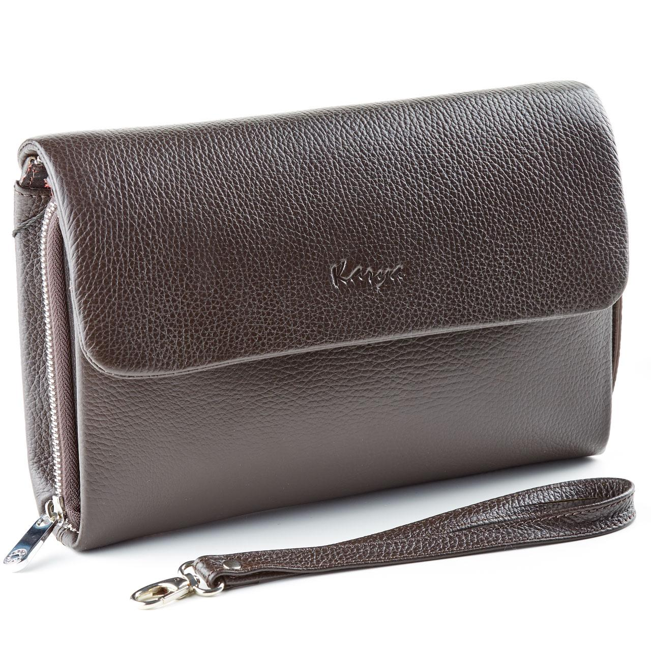 Мужская сумка барсетка Karya 0361-39 кожаная коричневая