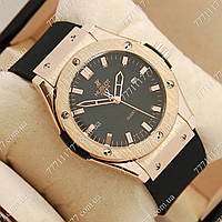 Часы мужские наручные Hublot Big Bang AA quartz Black/Gold/Black, фото 1