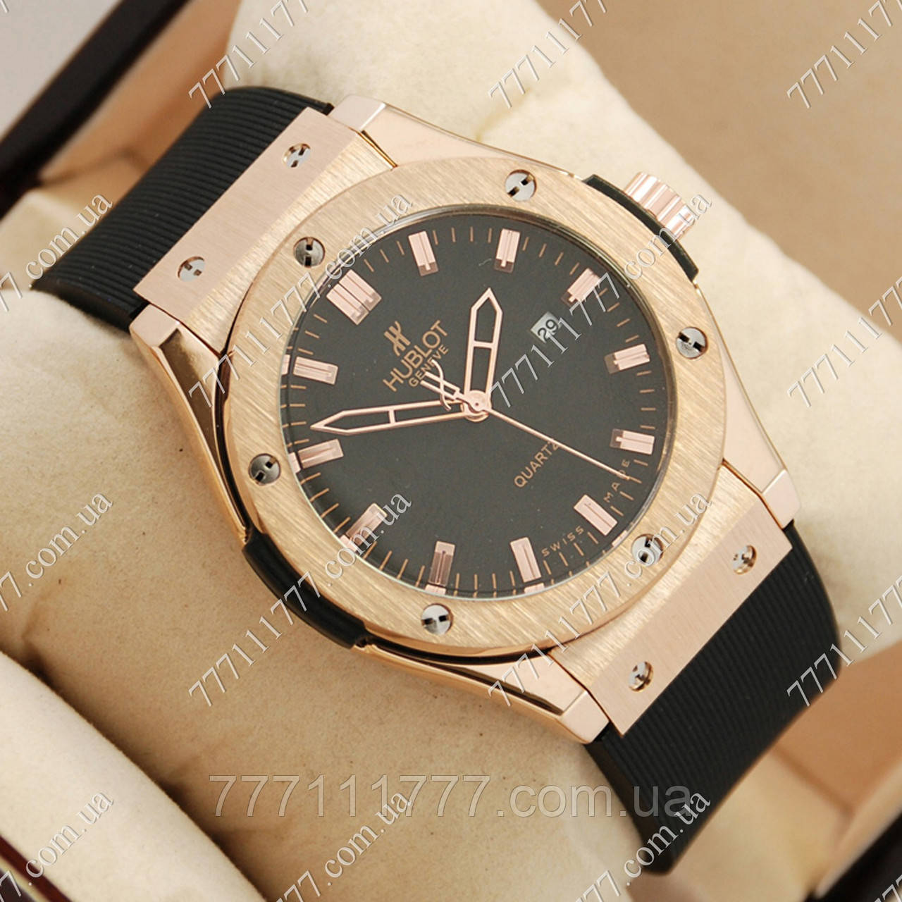 ae6b042b9821 Часы мужские наручные Hublot Big Bang AA quartz Black Gold Black ...
