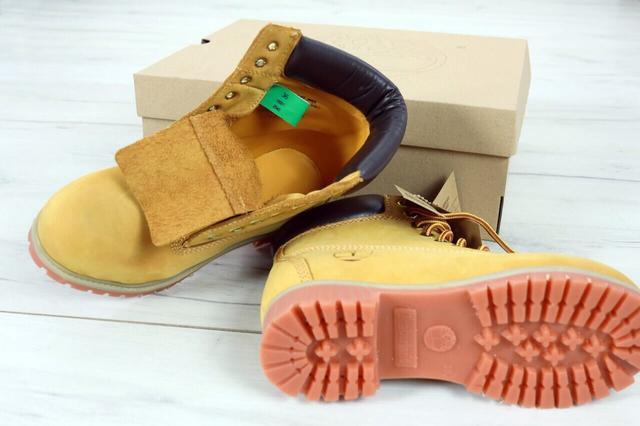 Ботинки Тимберленд желтого цвета фото
