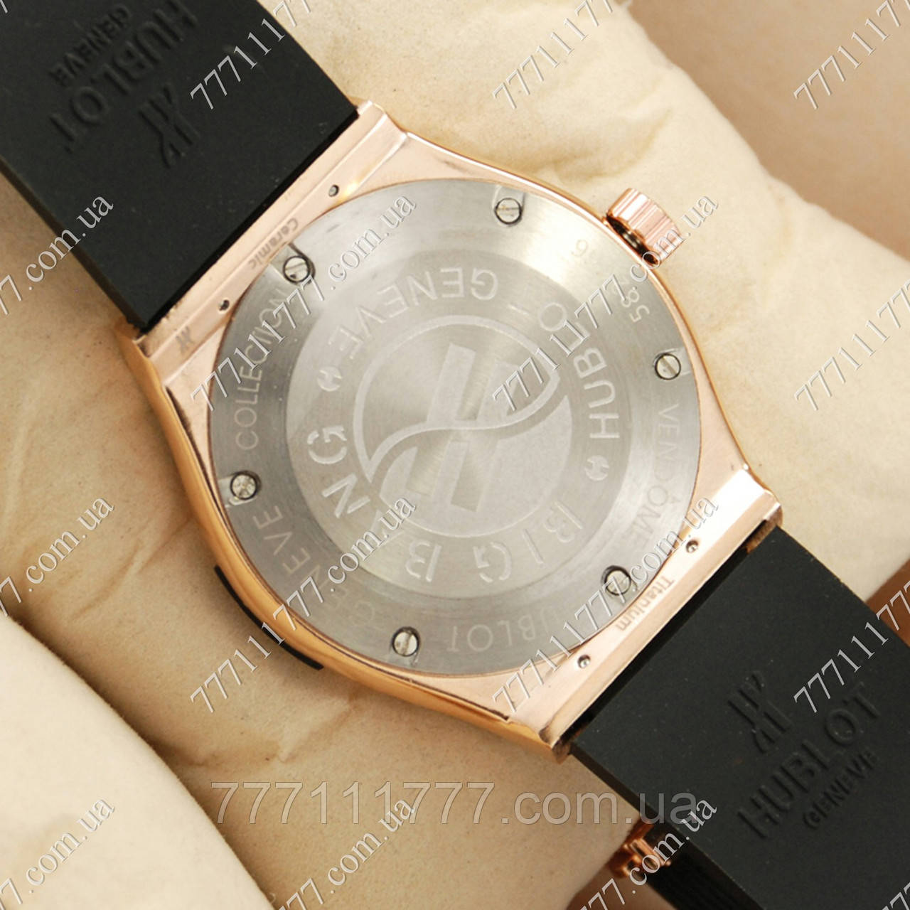 часы hublot black розовый