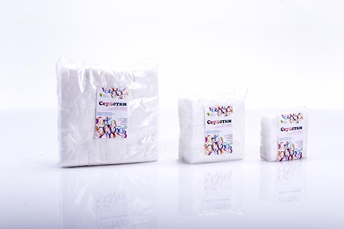 Салфетки спанлейс 30х30см гладкая структура 100шт упаковка