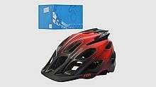 Шлем взрослый.AS180070-16.Размер универсал.25 вентиляционных отверстий.Красный