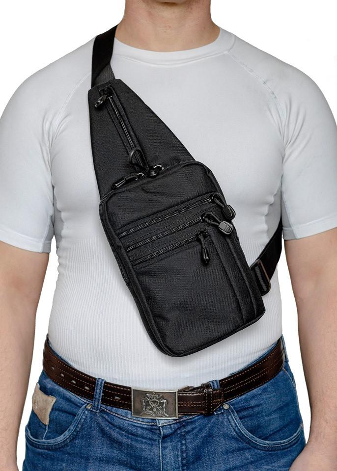 A-line Плечевая сумка с кобурой А33, черная синтетическая