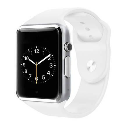 Умные Часы Smart Watch А1 white (англ. версия) + Наушники подарок, фото 2