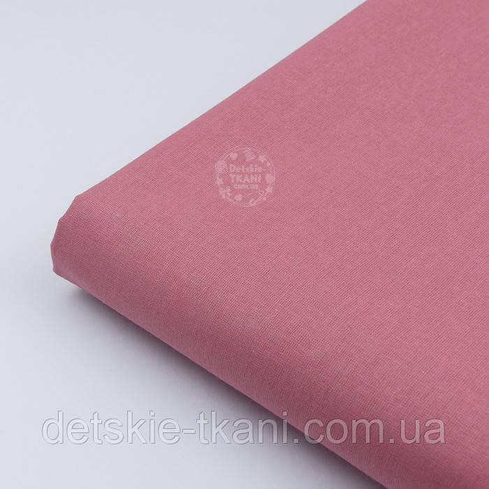 Лоскут ткани, цвет тёмно-коралловый, №1972