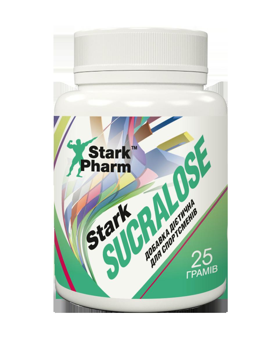 Підсолоджувач сукралоза Stark Pharm - Sucralose (25 грамів) (100% нешкідливість, 600 разів солодше цукру)