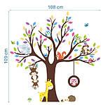 Интерьерная наклейка Дерево и зверята  (109х109см), фото 3