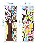 Интерьерная наклейка Дерево и зверята  (109х109см), фото 2