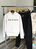 Женский демисезонная толстовка с капюшоном белая в стиле Friends