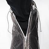 Бахилы для обуви от дождя, снега, грязи 2Life XL многоразовые, с молнией и шнурком-утяжкой Black (n-402), фото 4