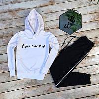 Женский демисезонная толстовка с капюшоном серый в стиле Friends, фото 1