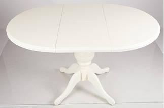 Стол обеденный раскладной Гермес d89+38 Ваниль ТМ МиксМебель, фото 3