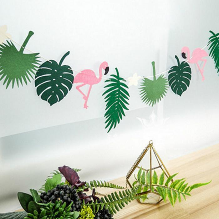 """Декор, гирлянда """"Гаваи с фламинго"""""""