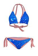 Модный женский купальник двухсторонний play M 44-46 синий красный UAAPw02_3k
