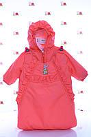 Куртка демисезонная  и конверт   для девочек от рождения до года, фото 1