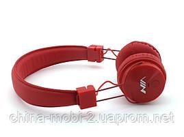 Nia-X3 Bluetooth наушники гарнитура с MP3 FM, красные, фото 2