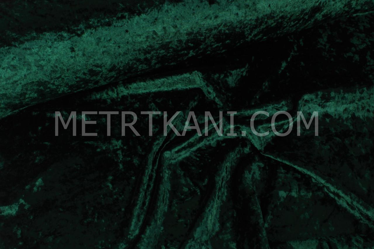 """Бархат Мраморный""  темно-зеленого цвета, ширина 150 см № Б-007"
