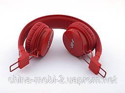 Nia-X3 Bluetooth наушники гарнитура с MP3 FM, красные, фото 3