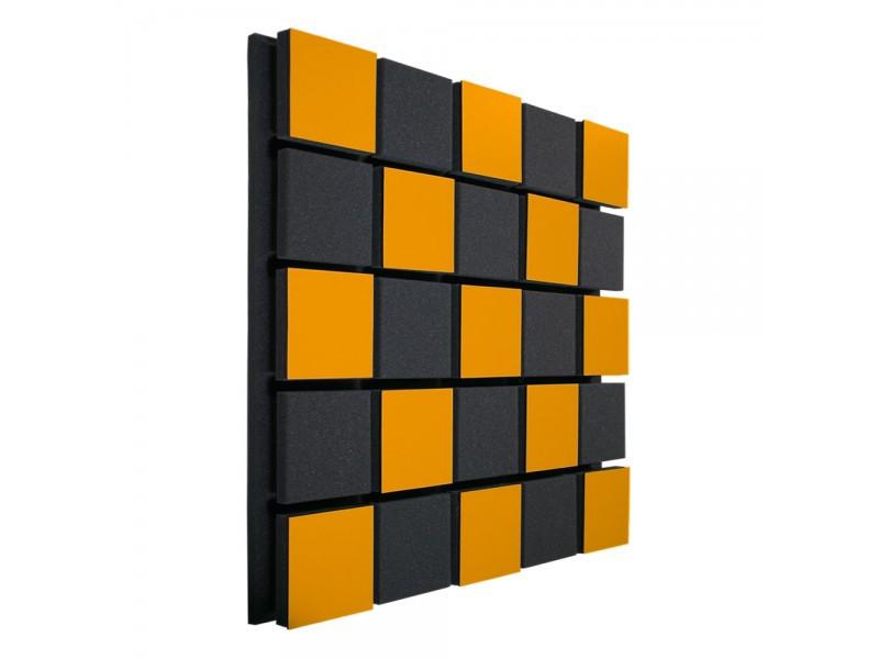 Акустическая панель Ecosound Tetras Acoustic Wood Orange 50x50см 33мм цвет оранжевый