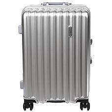 Чемодан большой BagHouse 43х61х30 цвет серебристый 4 колеса  кс325бсер, фото 2