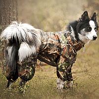 Одежда  для Собак. Водостойкий комбинезон  без подкладки.  Для собак больших и средних пород.  HUNTER. FOREST