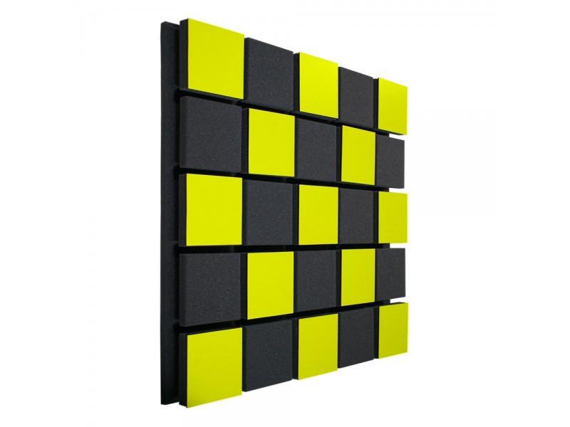 Акустическая панель Ecosound Tetras Acoustic Wood Yellow 50x50см 33мм цвет жёлтый