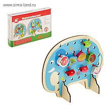Деревянная шнуровка Слоник. развивающая и обучающая игрушка