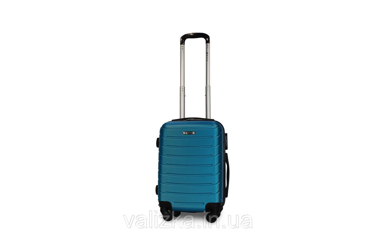 Пластиковый чемодан Fly S для ручной клади синий