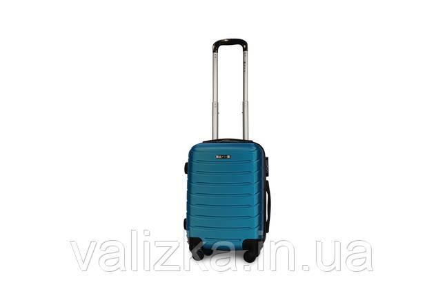Пластиковый чемодан Fly S для ручной клади синий, фото 2
