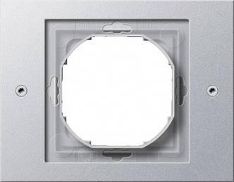Gira 021165 Рамка установочная 1 пост Gira TX_44 (WG UP) алюминий