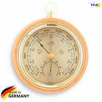 Барометр TFA з термометром, бук, 120 мм, d=105 мм