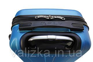 Пластиковый чемодан Fly S для ручной клади синий, фото 3
