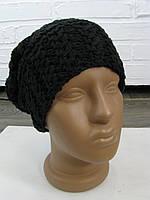 Шапка женская вязанная черная