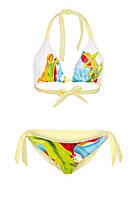 Яркий раздельный двухцветный купальник для девочки play S 40-42 желтый принт  s19APw02_6kr