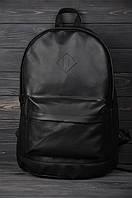 Рюкзак городской кожаный черный