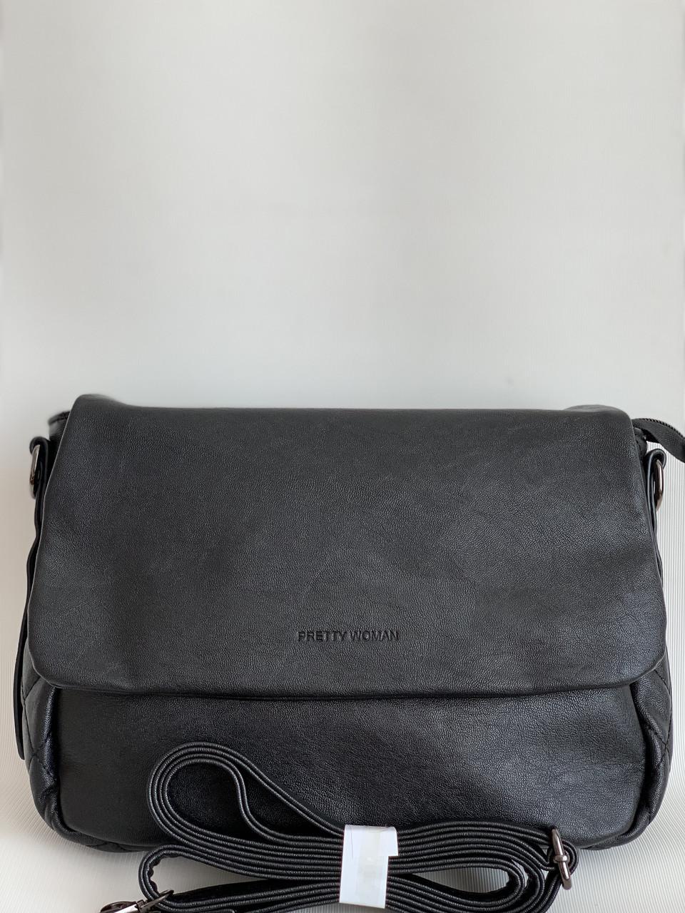 Женская наплечная сумка Pretty woman черная
