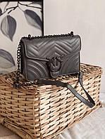 Женская маленькая сумка 2101rom стеганая на длинной цепочке