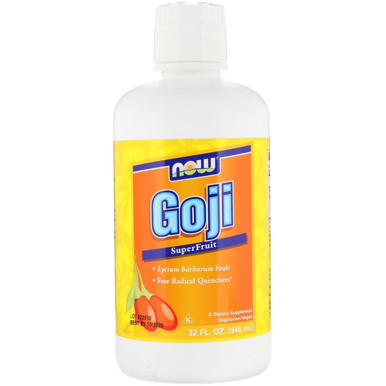 """Сок годжи NOW Foods """"Goji SuperFruit Juice"""" (946 мл)"""