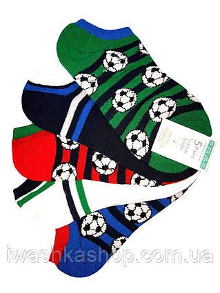 Низкие спортивные носки спринтом мячей на мальчиков 7 - 10 лет, р. 30,5 - 36, Primark