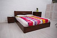 Кровать с подъемным механизмом Айрис 160-200 см (орех темный)