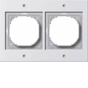 Gira 021266 Рамка установочная 2 поста Gira TX_44 (WG UP) белый