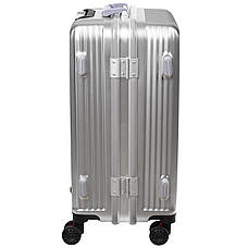 Чемодан малый BagHouse 36х51х24 цвет серебро 4 колеса  кс32мсер, фото 3