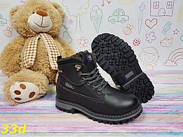 Детские ботинки тимбер из экокожи черные