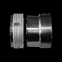 Переход стальная труба — керамический дымоход 220