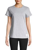 Женская оригинальная серая хлопковая футболка Calvin Klein