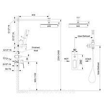 Душевая система Imprese GRAFIKY скрытого монтажа хром, фото 3