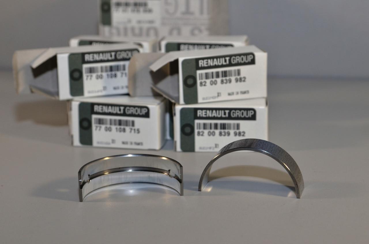 Вкладиші колінчастого вала на Renault Scenic II 2001->2009 1.9 dCi+1.9 D — Renault (Оригінал) - 7701478839