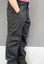 "Тактические Брюки SoftShell (штаны  Софтшел)  ""URBAN SCOUT"" BLACK - аналог M-Tac, фото 3"